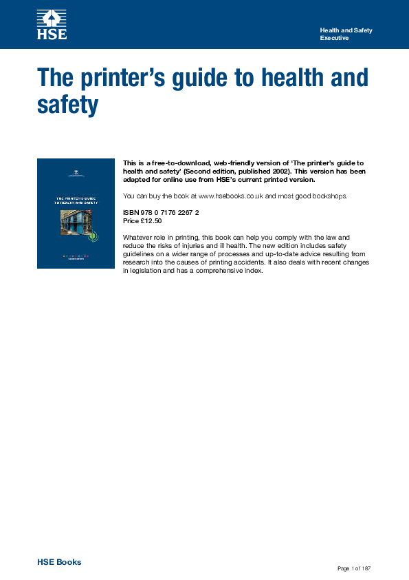 PDF) Health and Safety Executive | MOHAMAD SUKRI - Academia edu