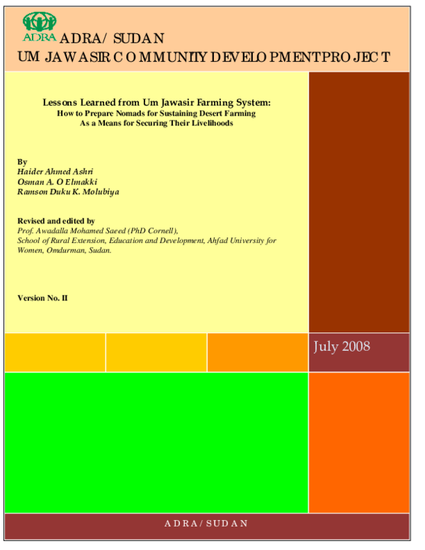 PDF) Lessons Learned from Um Jawasir Farming System: How to