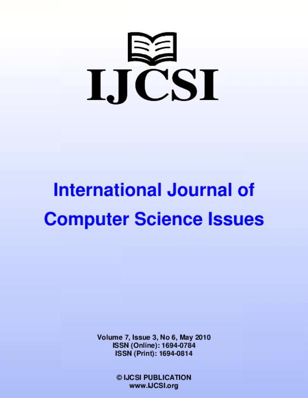 PDF) IJCSI-Vol-7-Issue-3-No--6 pdf   Dr Hanumanthappa J
