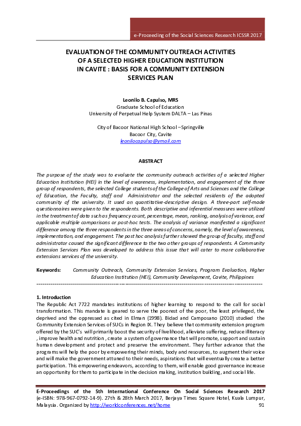 Thesis on community extension literary analysis of a picture book