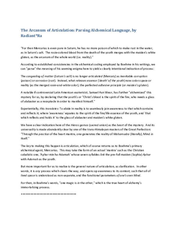 PDF) The Arcanum of Articulation: Parsing Alchemical