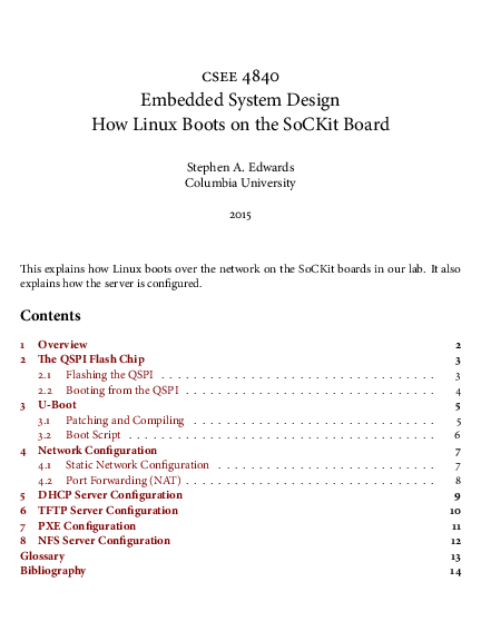 PDF) Embedded System Design How Linux Boots on the SoCKit