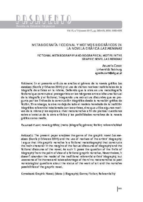 Pdf Metabiografía Ficcional Y Motivos Biográficos En La