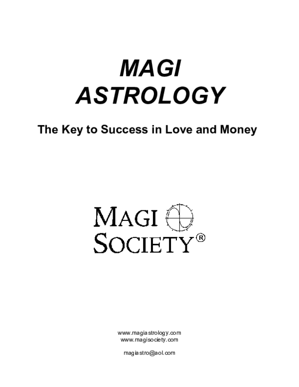 Magi Astrology The Key To Success In Love And Money Flavio