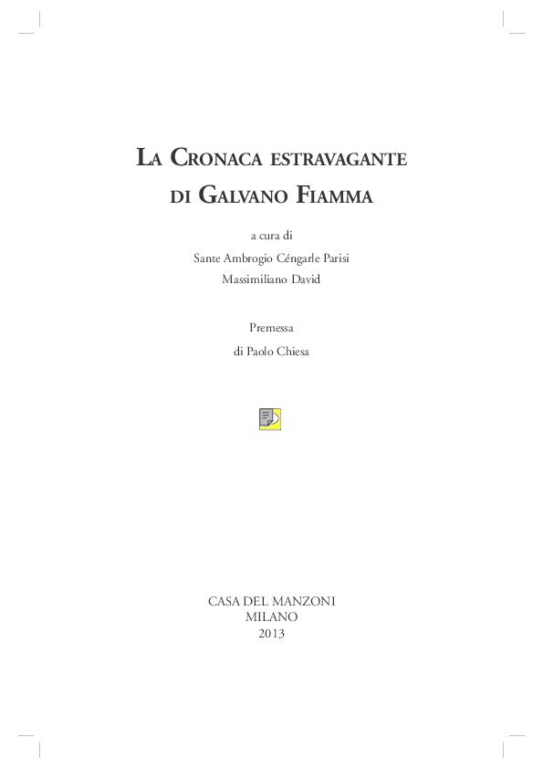 dbcc5031a32e PDF) LA CRONACA ESTRAVAGANTE DI GALVANO FIAMMA