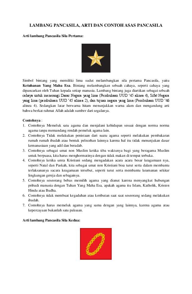 [Koleksi Terbaik] Mewarnai Simbol Sila Pancasila