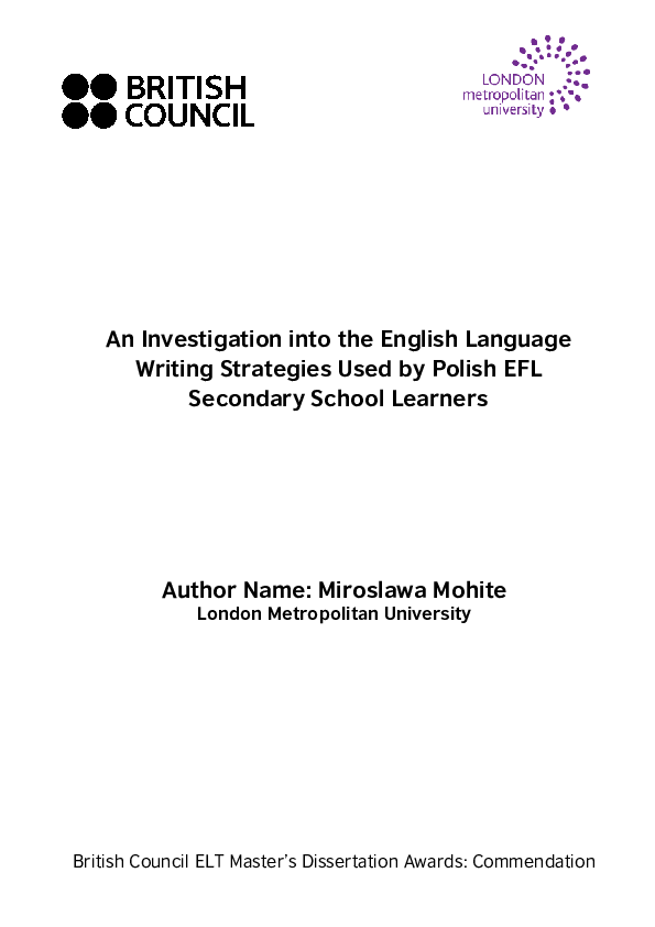 PDF) An Investigation into the English Language Writing