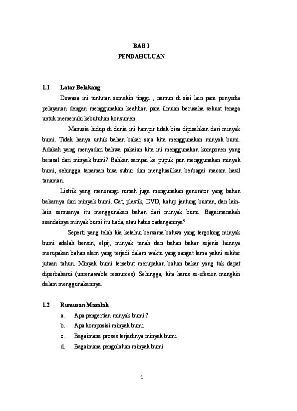 Doc Makalah Minyak Bumi Copy Doc Mar Yana Academia Edu