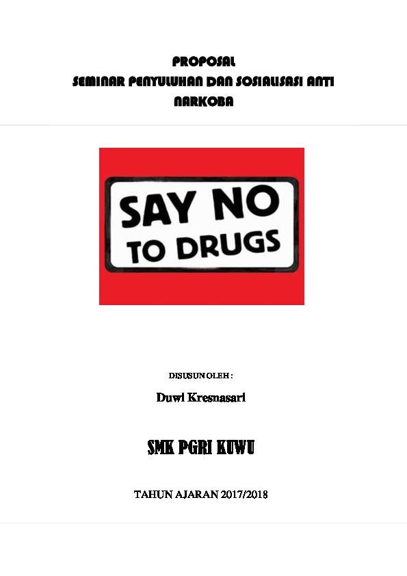 Doc Proposal Kegiatan Anti Narkoba Docx Duwi Kresnasari Academia Edu