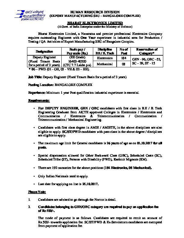 PDF) HUMAN RESOURCE DIVISION (EXPORT MANUFACTURING SBU