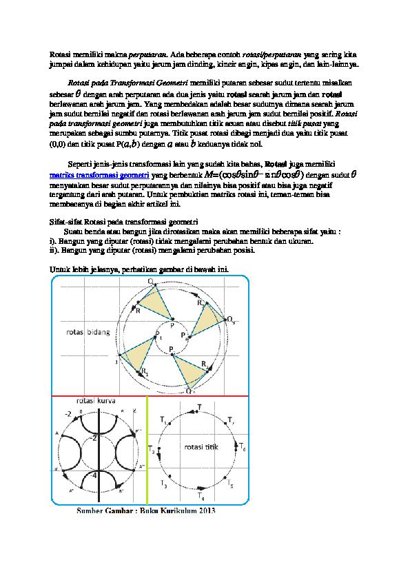 Doc Rotasi Transformasi Geometri Taufik Akbar Firmansyah Academia Edu