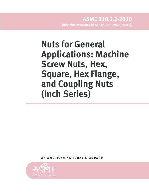 PDF) ASME B18 2 2-2010 Nuts for General Applications