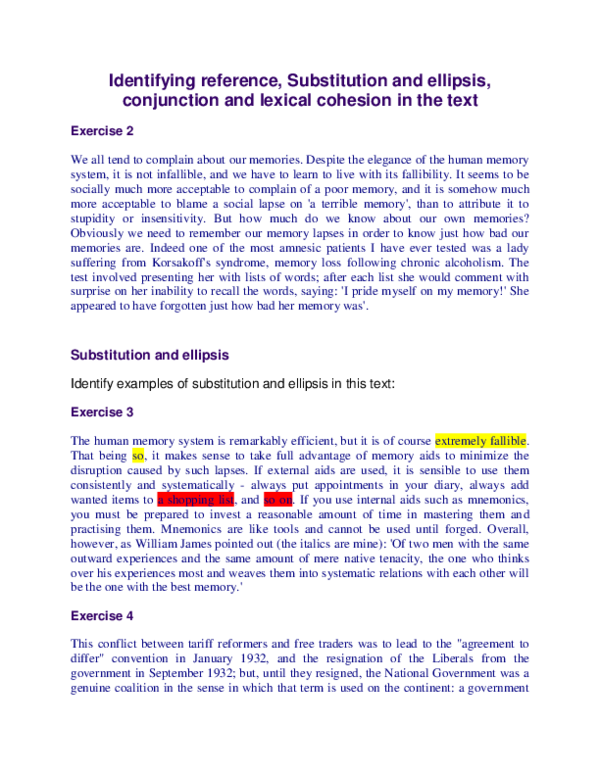 DOC) Identifying reference, Substitution and ellipsis