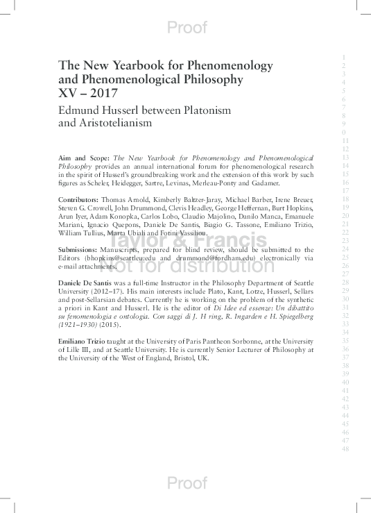 The New Yearbook for Phenomenology and Phenomenological Philosophy: Volume 3