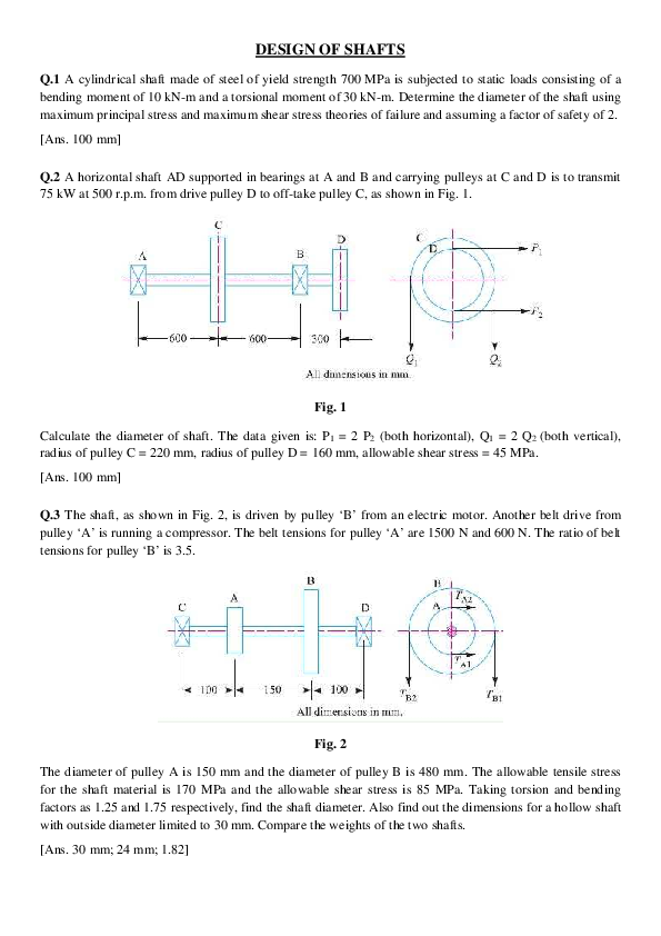 PDF) DESIGN OF SHAFTS | somya bhatnagar - Academia edu