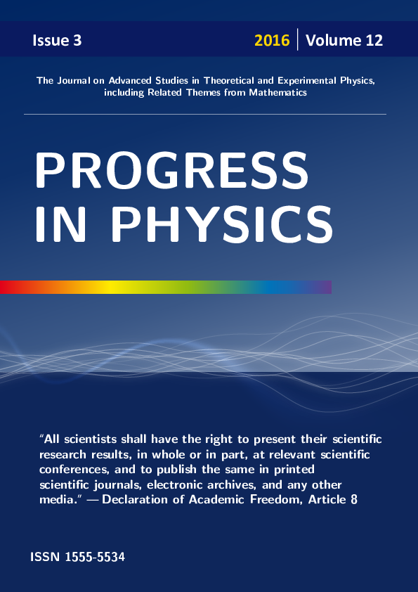 PDF) Progress in Physics, Vol  III/2016 | Florentin