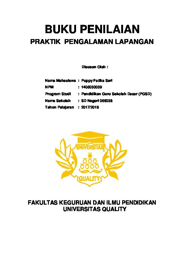 Doc Laporan Ppl Pgsd Poppy Fatika Sari Academia Edu
