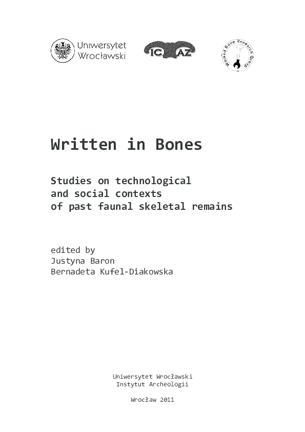 PDF) Written in Bones  Studies on technological and social