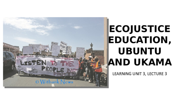 PPT) LU3, lecture 3 - EJE and three ecologies | Mzwandile Nkomo