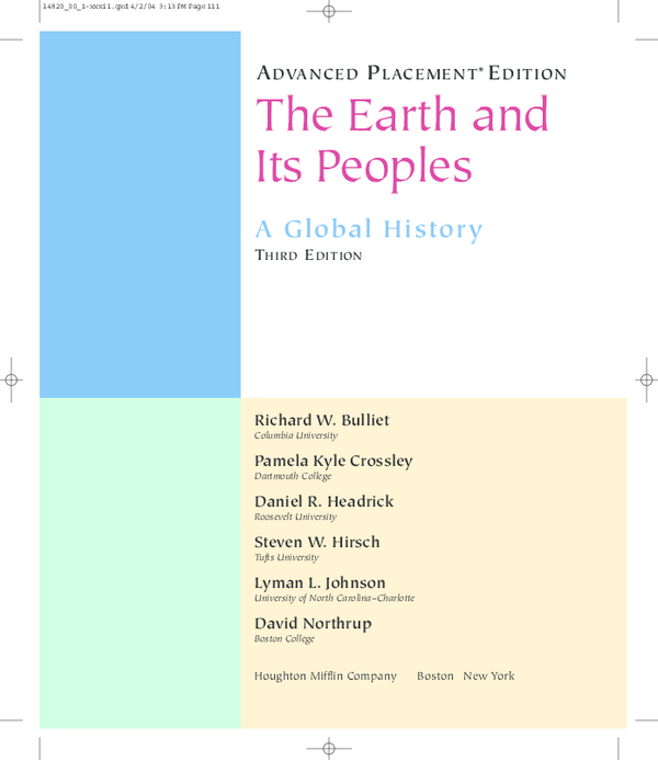PDF) The Earth and Its Peoples A Global History THIRD