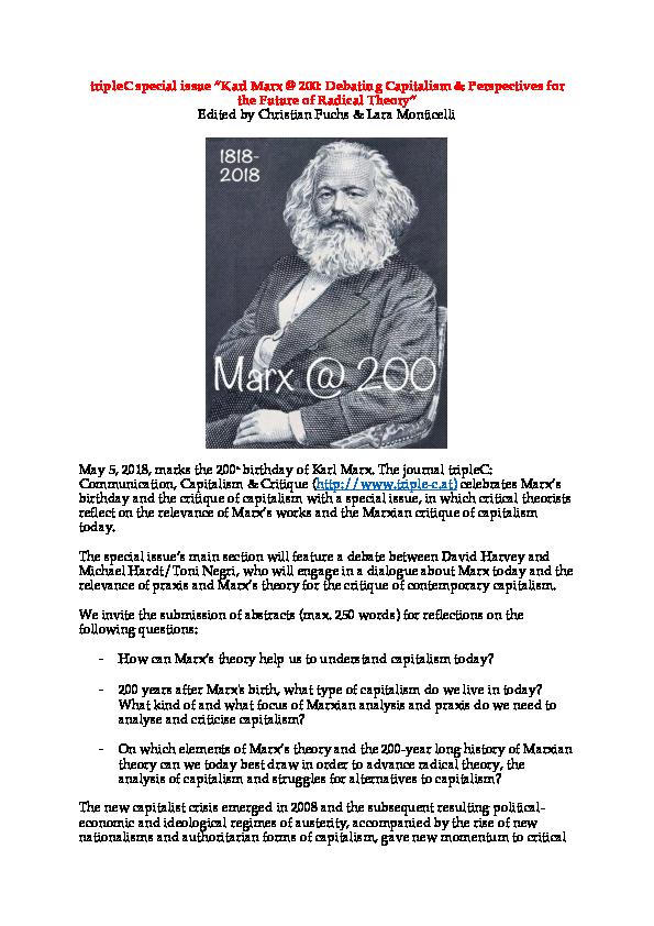 Capitalism Marx