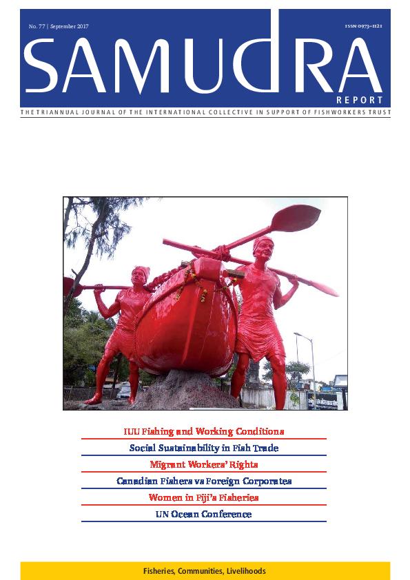 PDF) SAMUDRA Report No 77, September 2017   International