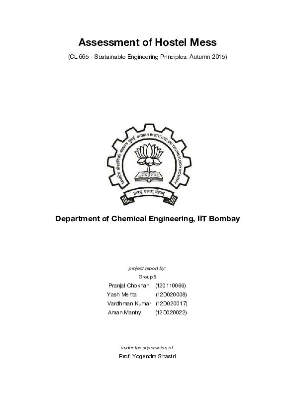 PDF) Assessment of Hostel Mess | shubham kothawade - Academia edu