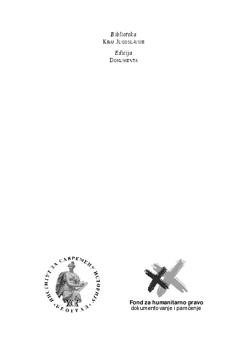 f1ed352ebf7 Od mira do rata. Dokumenta Predsedništva SFRJ
