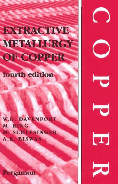 PDF) Extractive Metallurgy of Copper - G. W. DAVENPORT.PDF | Mete ...