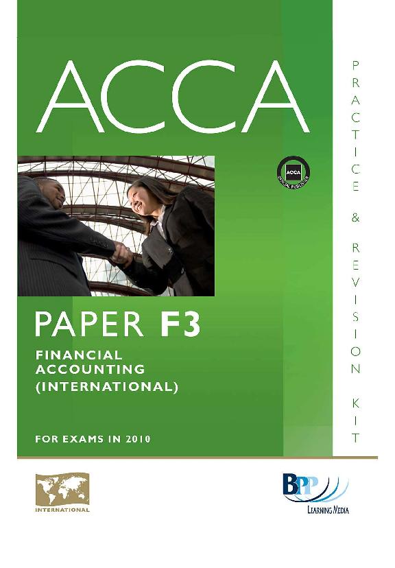PDF) F3 Financial Accounting (Int ) Revision Kit BPP | Diana