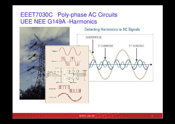 PDF) EEET7030C Poly-phase AC Circuits UEE NEE G149A -Harmonics   sun