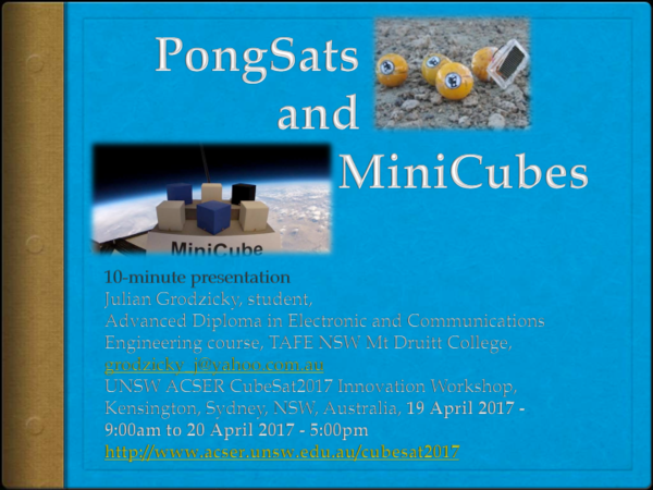 PDF) PongSats & MiniCubes Grodzicky 200417 v2 3 pdf | Julian