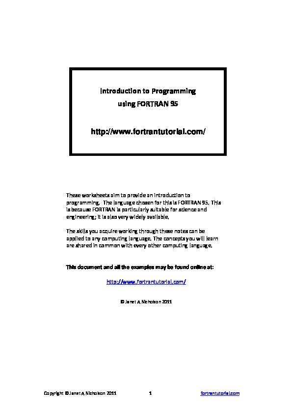 95 pdf fortran