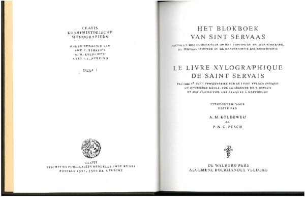 Pdf Het Blokboek Van Sint Servaas Le Livre Xylographique