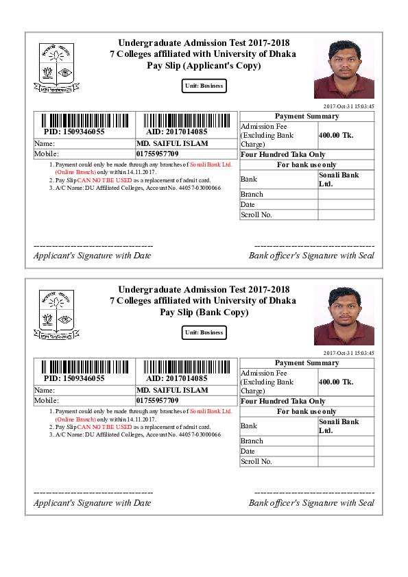 PDF) College du ac bd admission apply pay | Sohel Mahmud - Academia edu