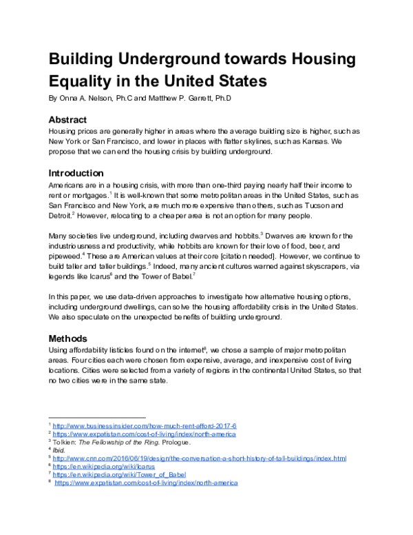 PDF) Building toward Housing Equality in the United States