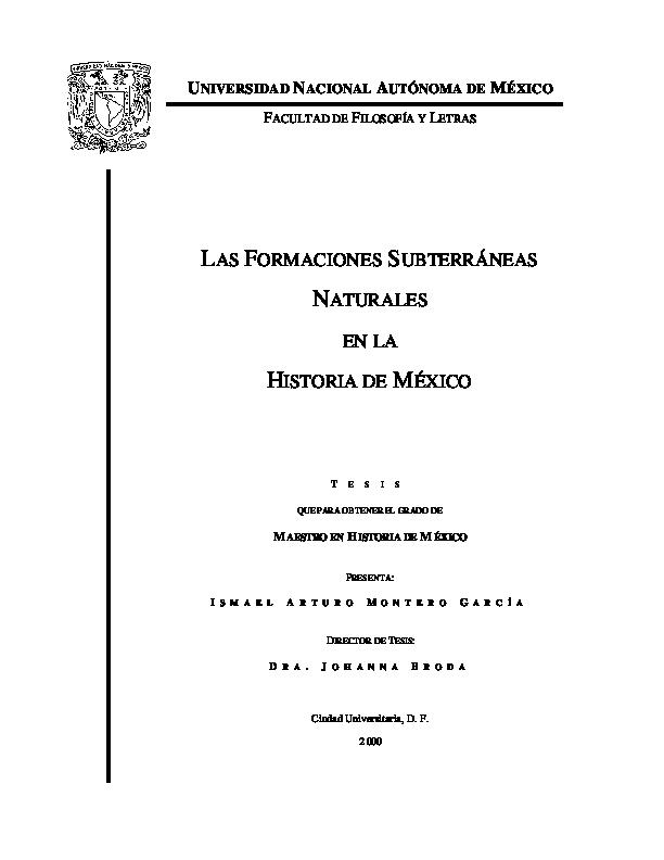 d455a0dfa86c PDF) Las formaciones subterráneas naturales en la historia de México ...