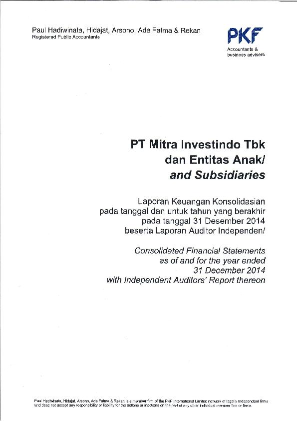 Pdf Soft Copy Laporan Keuangan Laporan Keuangan Tahun 2014 Audit Miti Miti Lkt Des Virdouvraera Turnip Academia Edu