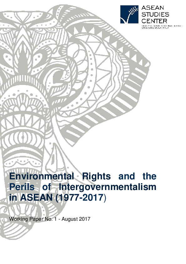 (PDF) Environmental Rights and the Perils of