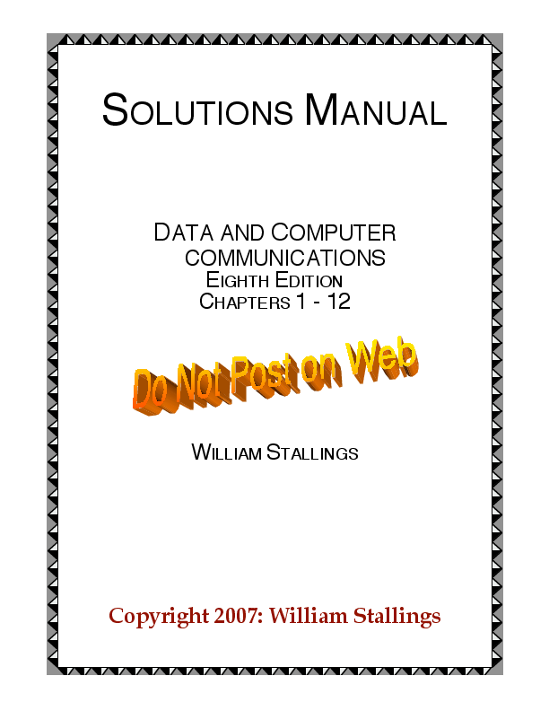 Data And Computer Communications Eighth Edition Solutions Hugo