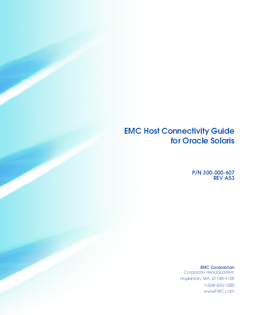 PDF) EMC Host Connectivity Guide for Oracle Solaris P/N 300