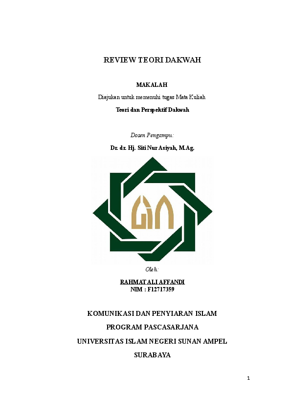 Makalah Uinsa Surabaya Contoh Makalah