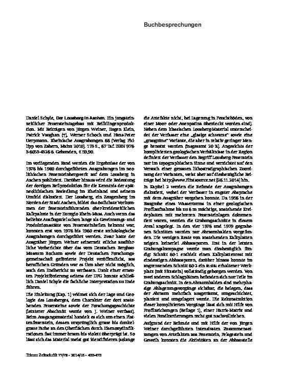 Städtisches Wörterbuch Datierungsgrundlagen