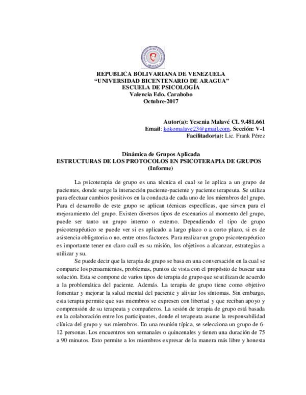 Doc Republica Bolivariana De Venezuela Universidad