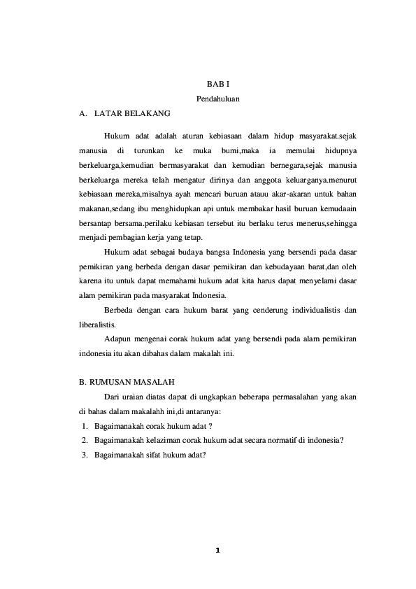 Doc Corak Dan Sistem Hukum Adat Romi Syahputra Academia Edu