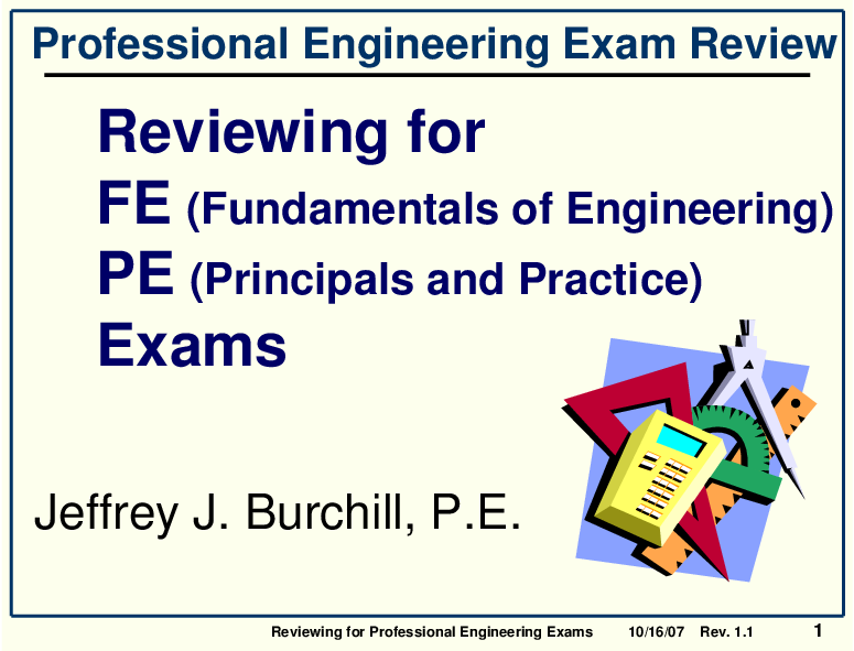 PDF) Reviewing for Professional Engineering Exams Professional