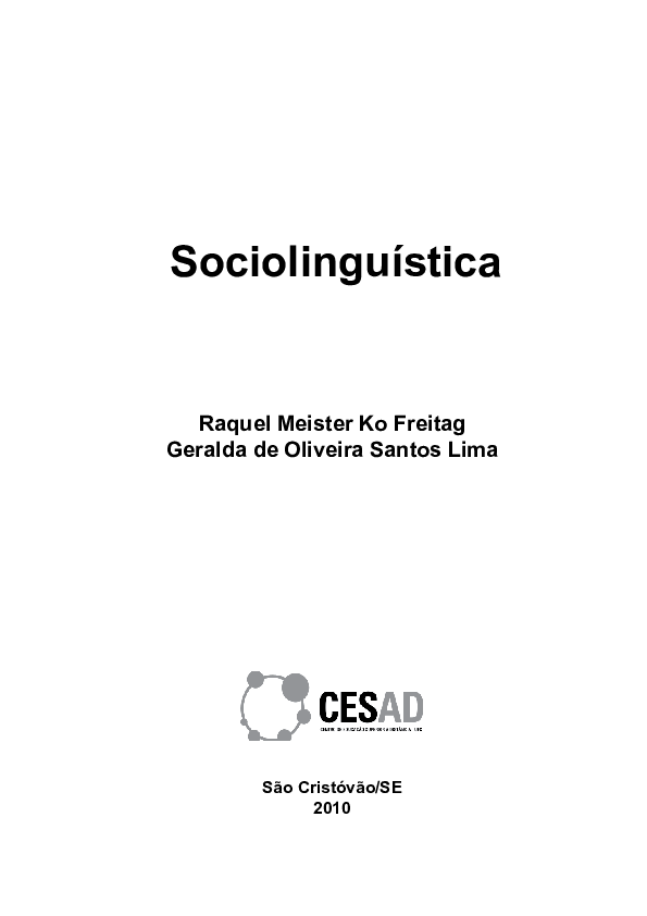 Sociolinguística  c9bb4e034f885