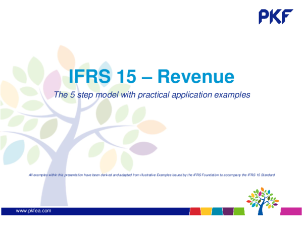 PDF) IFRS 15 – Revenue The 5 step model with practical application