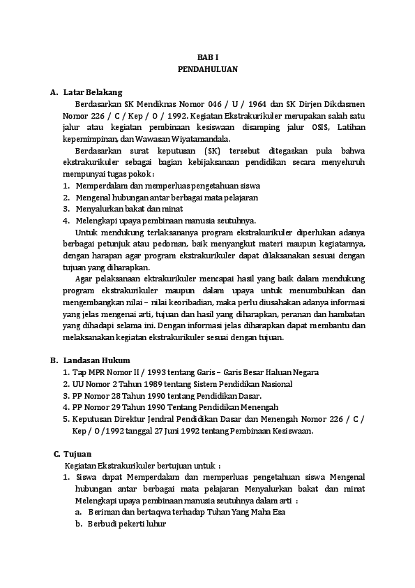 Doc Program Kerja Ekskul Futsal Agi Manik Academia Edu