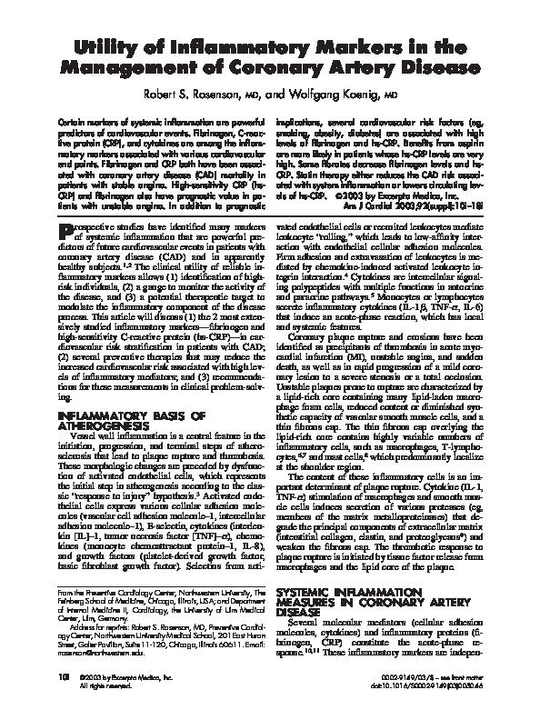 management of coronary heart disease pdf